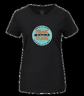Music Tourist T-Shirt Travlin' the Tracks with DJ Action Slacks KMHD