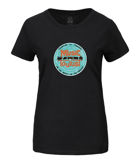 Music Tourist T-Shirt Travlin' the Tracks with DJ Action Slacks KMHD