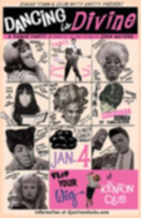 Dancing Is Divine - Dance Party Tribute to John Waters, World Famous Kenton Club, Portland Oregon, DJ Action Slacks, Portand Soul DJ, Marquee Salon, Vancouver, Soul Dance Party Poster