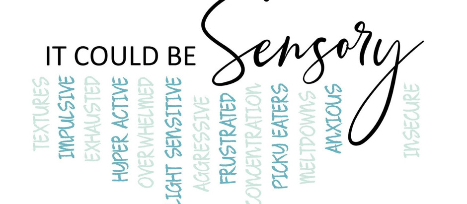 COULD IT BE SENSORY? THE REASON WHY SOME KIDS HAVE A HARD TIME COPING