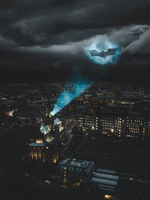 Glasgow Batman Print