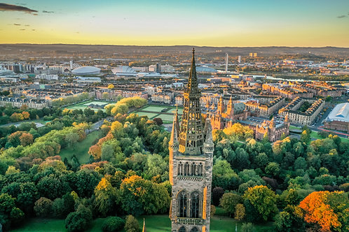 University of Glasgow Tower in Autumn