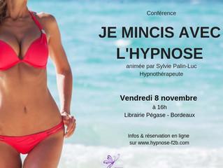 Conférence : Je mincis avec l'hypnose