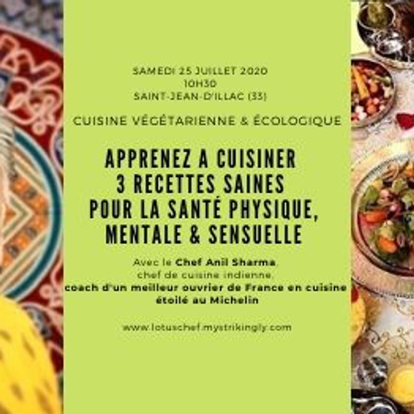 La cuisine saine pour la santé physique, mentale et sensuelle