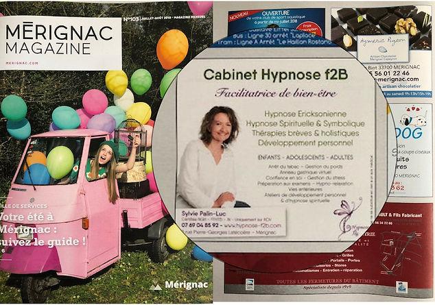 Publication dans Mérignac Magazine de juin 2018
