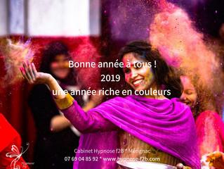 BONNE ANNEE 2019 : une année riche en couleurs