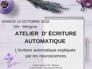 Atelier initiation à l'écriture automatique