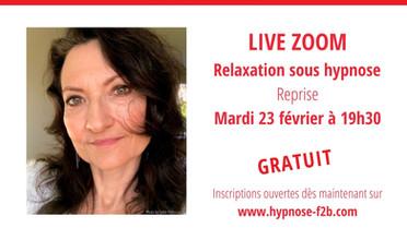 Live Relaxations gratuites sous hypnose: Reprise