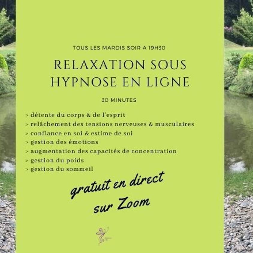 Relaxation sous hypnose en ligne