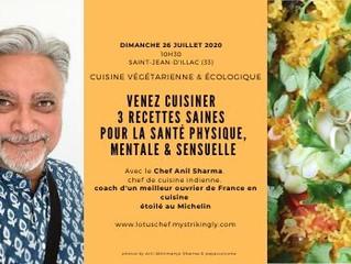Le Chef Anil Sharma remet le couvert à Bordeaux le 26 juillet 2020