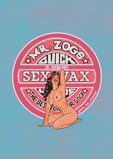 Sex Wax Bettie Page Art Print