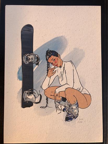 Snow Girl Art Print