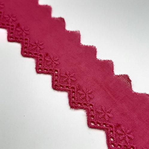 Baumwoll Broderiespitze pink  30mm