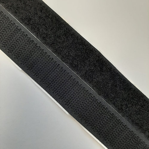Klettverschluss selbstklebend 20mm, schwarz