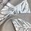 Thumbnail: Bedruckter Baumwollsatin beige/ creme mit Blätterprint