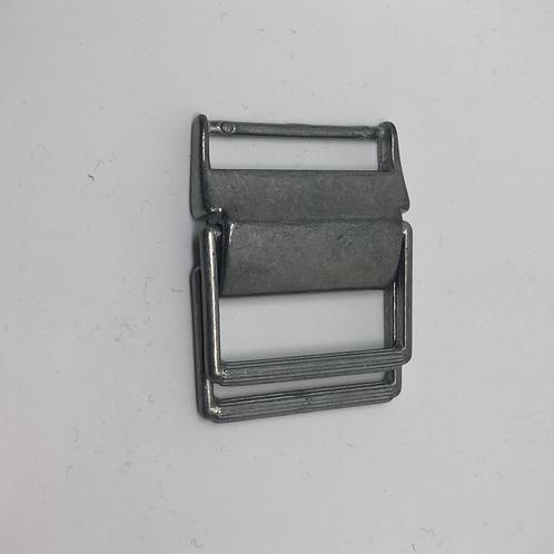 Schnalle silber mit Versteller 4 cm