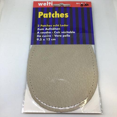 Patches echt Leder zum Aufnähen in verschiedenen Farben