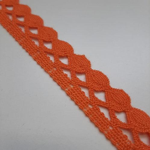 Spitzenband orange und dunkelblau, 23mm