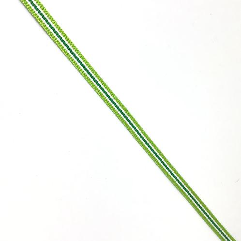 Ripsband grün gestreift, 5mm