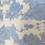 Thumbnail: Bestickter Leinenstoff creme/ hellblau