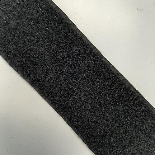 Klettverschluss nur Flausch 50mm, schwarz