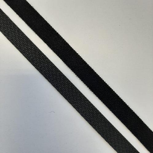 Klettverschluss selbstklebend Haken und Flausch 10mm, schwarz