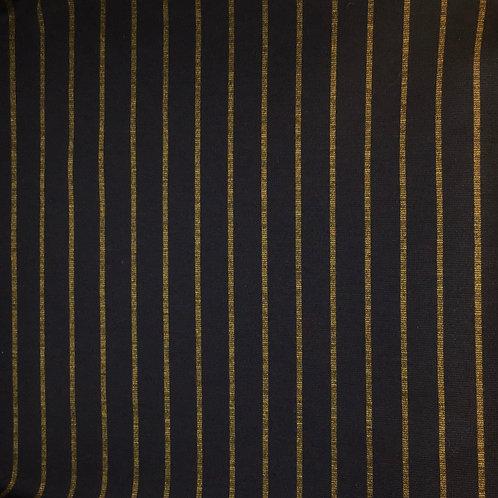 Schwerer Viskosejersey dunkelbraun mit senfgelbenStreifen