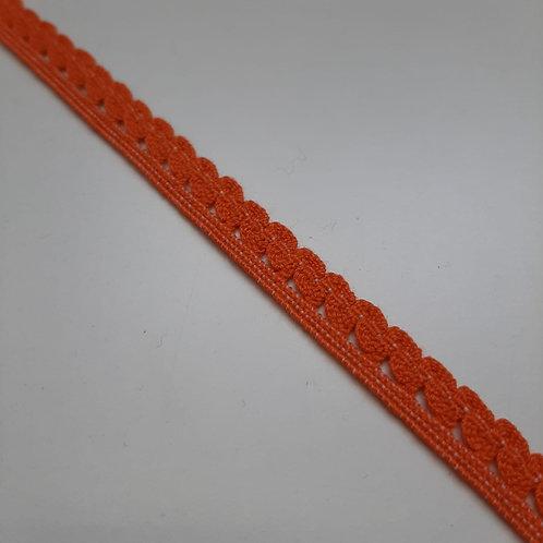 Elastisches Spitzenband orange, 11mm