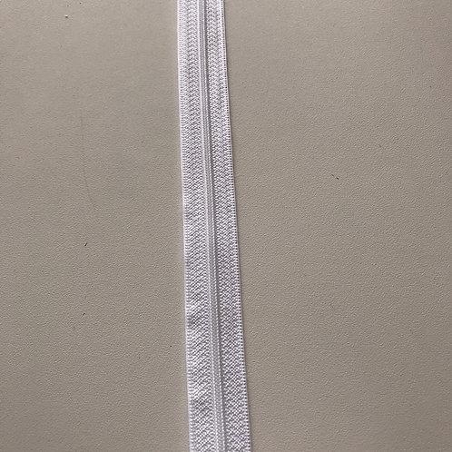 Reissverschluss am Meter 4mm weiss und schwarz