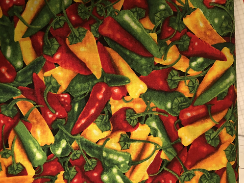 Baumwollstoff bedruckt Timeless Peperoni