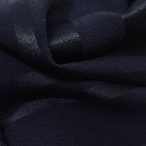 Weich fallender Viskosestoff mit Satinstreifen dunkelblau