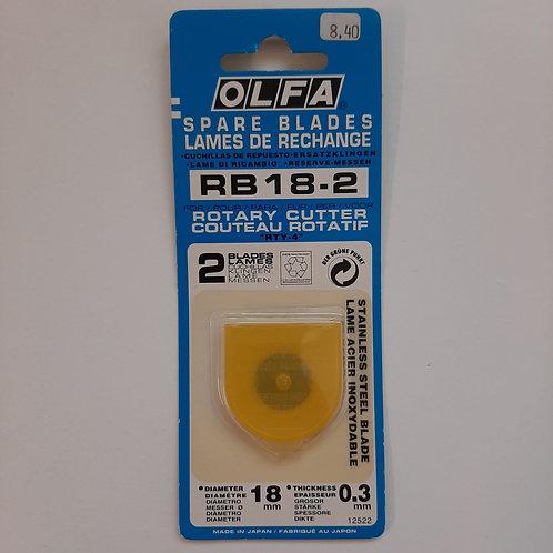 Ersatzklingen glatt für Rollmesser 18mm