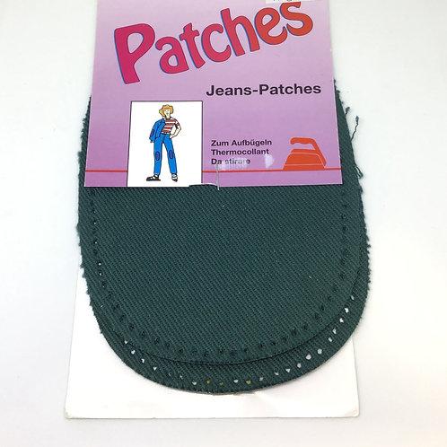 Jeans Patches dunkelgrün