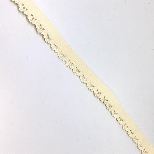 Unterwäsche Gummi mit Abschluss, hellgelb,10mm