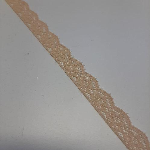Feines Spitzenband hautfarbig 10mm