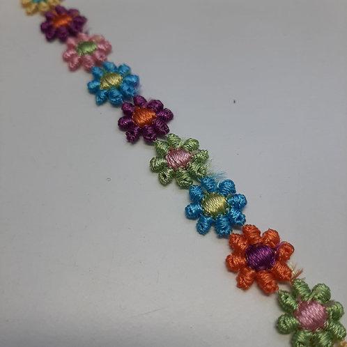 Blumenband farbig klein