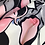 Thumbnail: Bedruckter Baumwollsatin schwarz/creme/rosé/grau