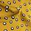 Thumbnail: Weich fliessender Viskosestoff mit Tupfen senfgelb