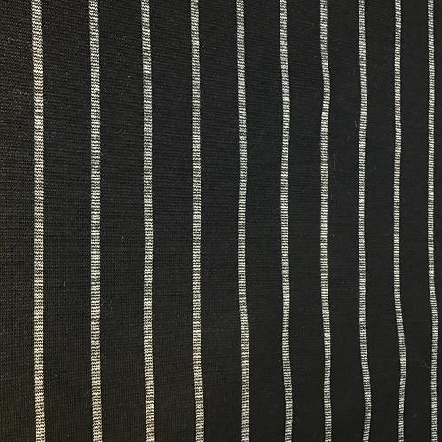 Schwerer Viskosejersey schwarz mit grauen Streifen