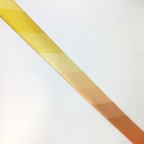 Satinschrägband im Farbverlauf gelb, orange
