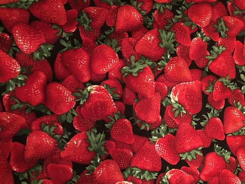 Baumwollstoff bedruckt Timeless Erdbeeren