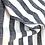 Thumbnail: Leinen/Baumwollstoff grau/ weiss gestreift