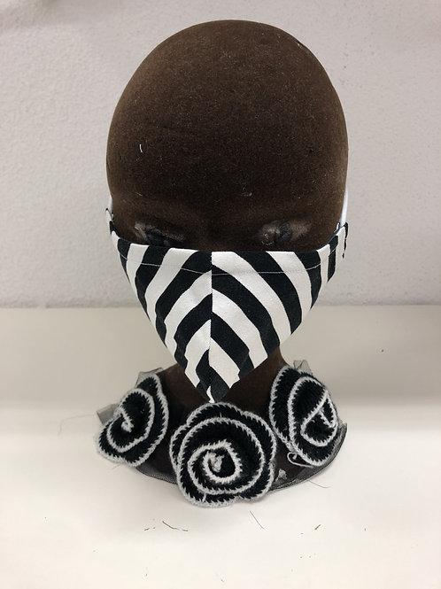 Hygiene Maske nicht zertifiziert, waschbar und umweltfreundlich Streifen