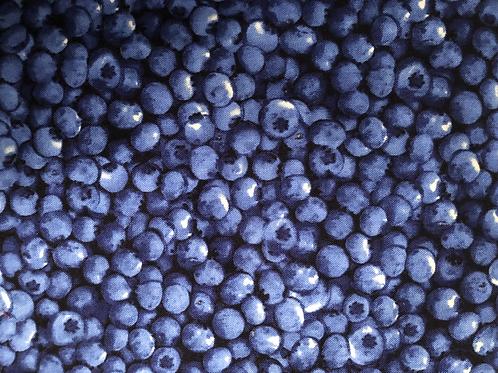 Baumwollstoff bedruckt Timeless Blaubeeren