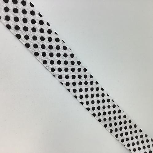 Baumwollschrägband Punkte in  verschiedenen Farben