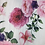 Thumbnail: Bedruckter Baumwollstoff weiss mit Rosen in Crinkleoptik