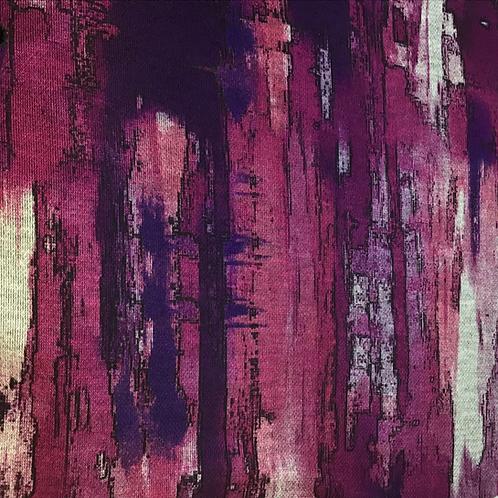 Schwerer bedruckter Jersey in pink, fuchsia Farben
