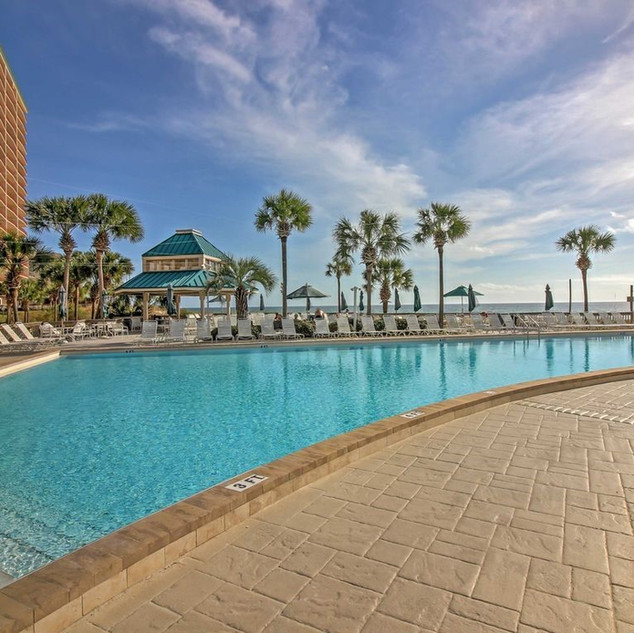 Pool at E Building and Beach Access