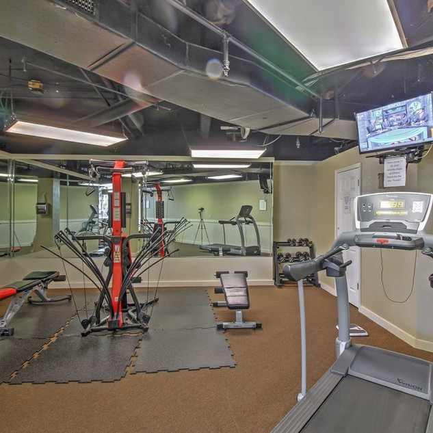 Fitness room at E Building