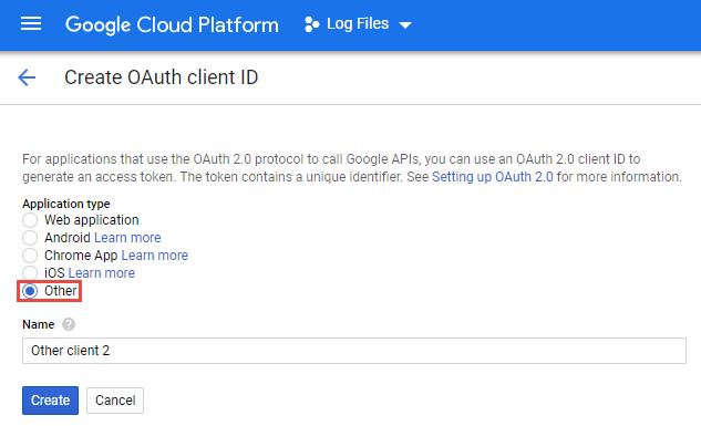 Google Cloud QAuth Client ID